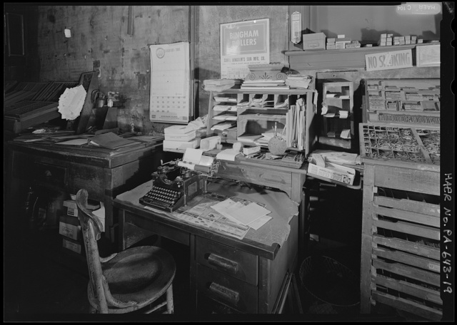 H. Goaziou Printshop, 807 Fallowfield Avenue, Charleroi, Washington County, PA