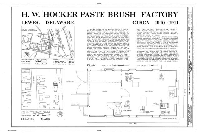 H. W. Hocker Manufacturing Company Factory, 224 Front Street, Lewes, Sussex County, DE
