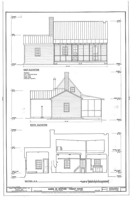 Habre de Venture, Tenant House, Rose Hill Road, La Plata, Charles County, MD