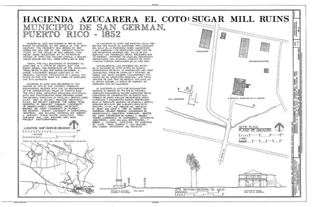 Hacienda Azucarera El Coto, Sugar Mill Ruins, .5 Mi. SW of Rt. 347 Bridge Over Guanajibo River, San German, San German Municipio, PR