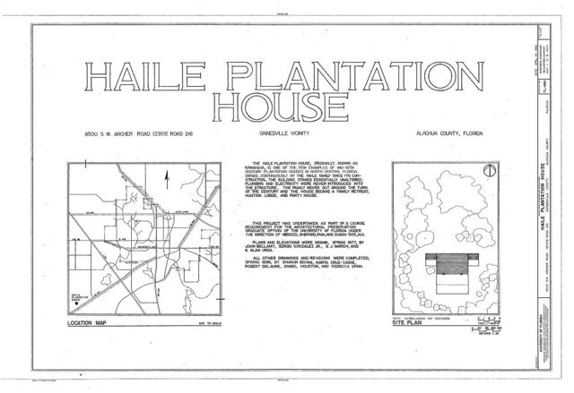 Haile Plantation House, 8500 Southwest Archer Road (State Route 24), Gainesville, Alachua County, FL
