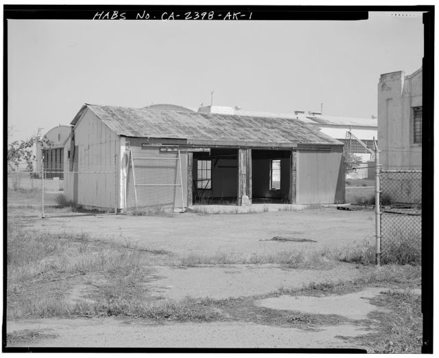 Hamilton Field, Auto Storage Shed, Hangar Avenue northwest of Second Street, Novato, Marin County, CA
