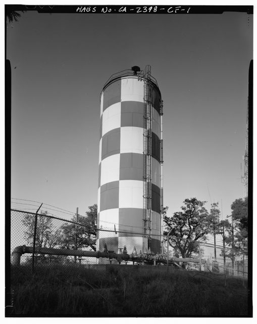 Hamilton Field, Water Storage Standpipe, Terminus of Water Tower Road, Novato, Marin County, CA