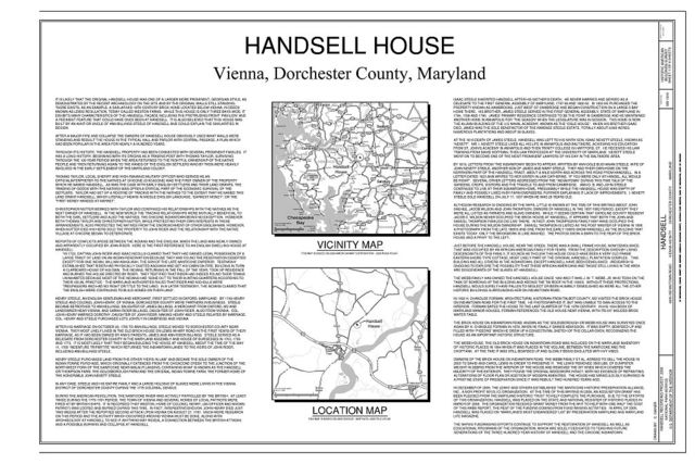Handsell, 4835 Indiantown Road, Vienna, Dorchester County, MD
