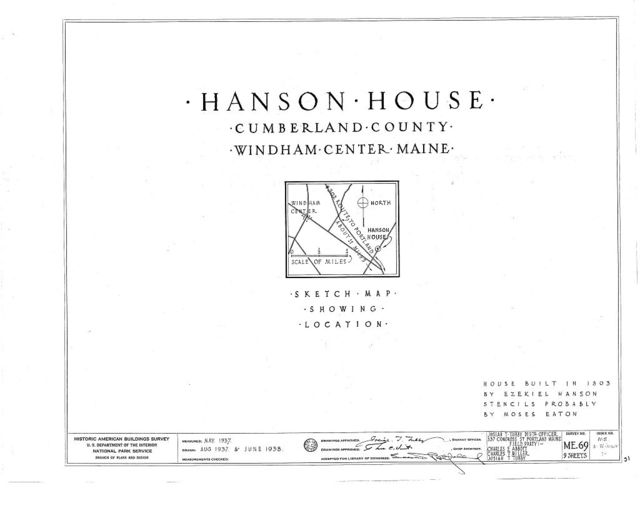 Hanson House, Albion Road, Windham Center, Cumberland County, ME