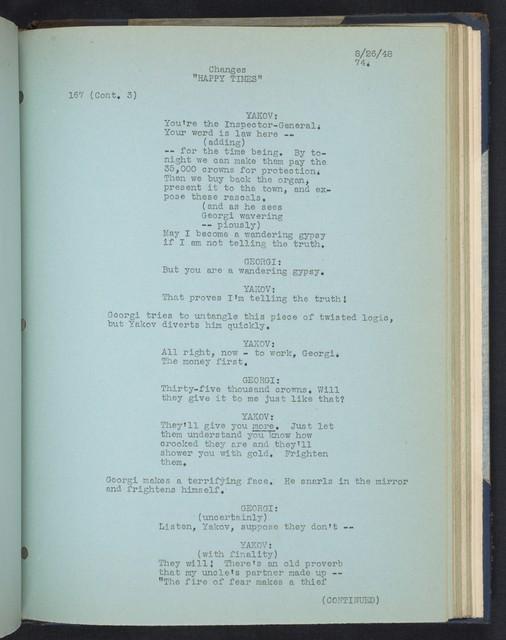 Happy Times [Film Script]