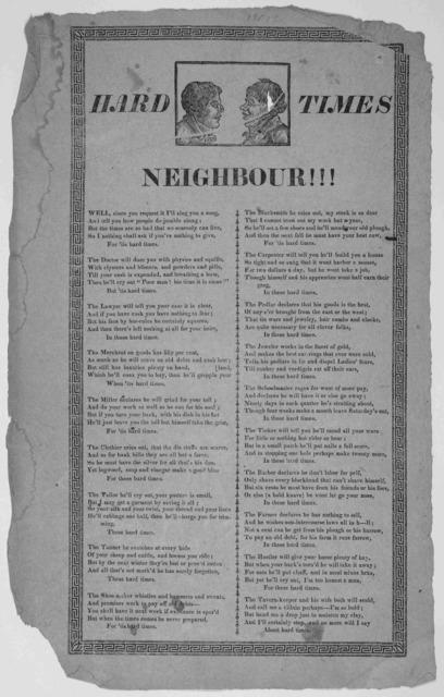 Hard times neighbour!!! [n. p. n. d.].