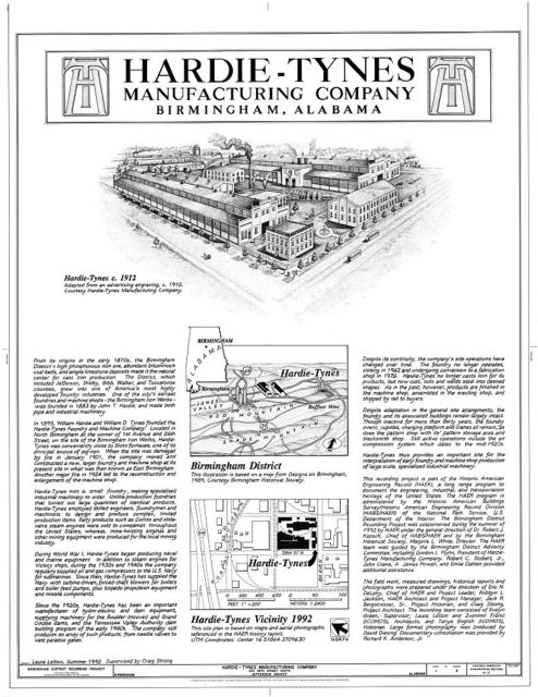 Hardie-Tynes Manufacturing Company, 800 Twenty-eighth Street, North, Birmingham, Jefferson County, AL