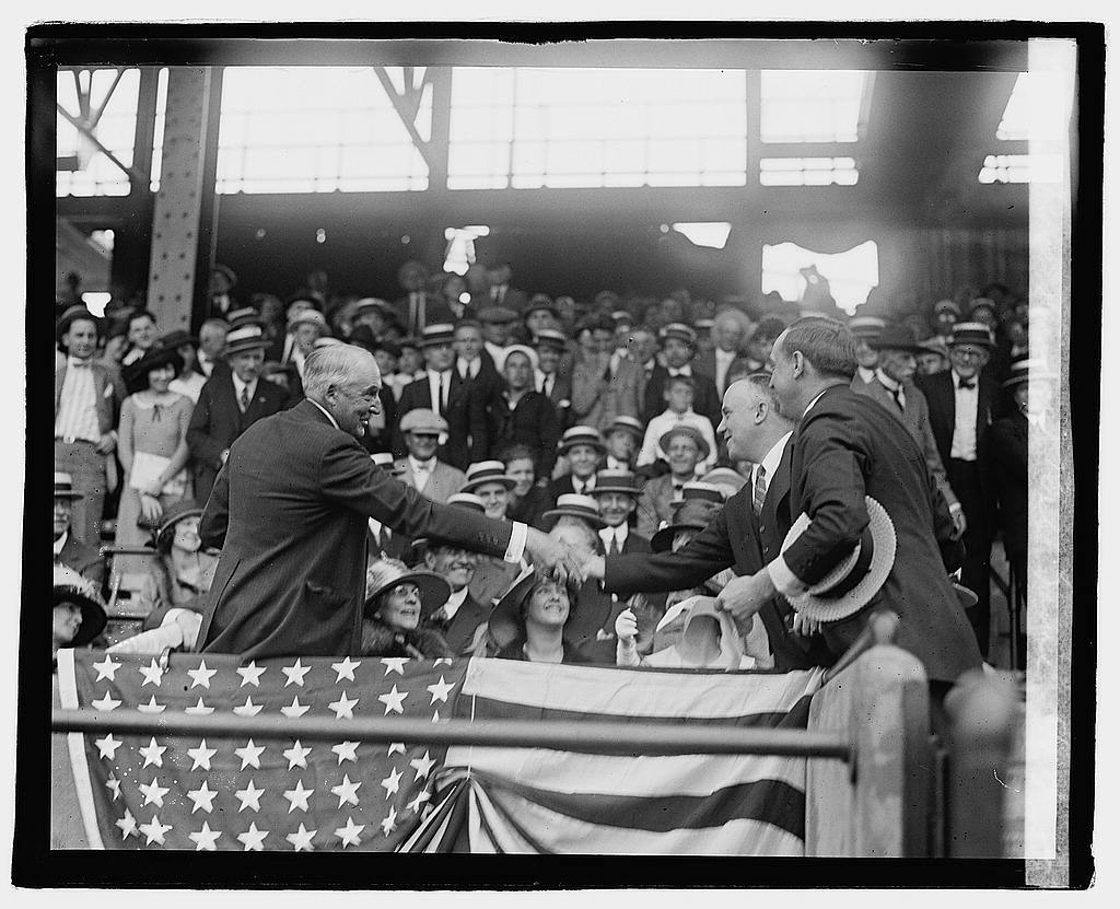 Harding at ball game, 5/22/22