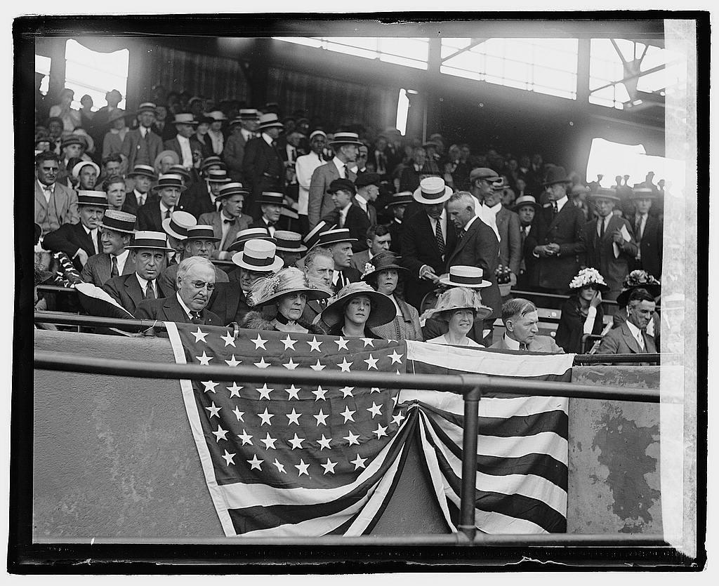 Harding at ball game, 5/22/22