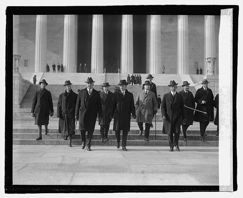 Harding at Lincoln Memorial, 12/18/22