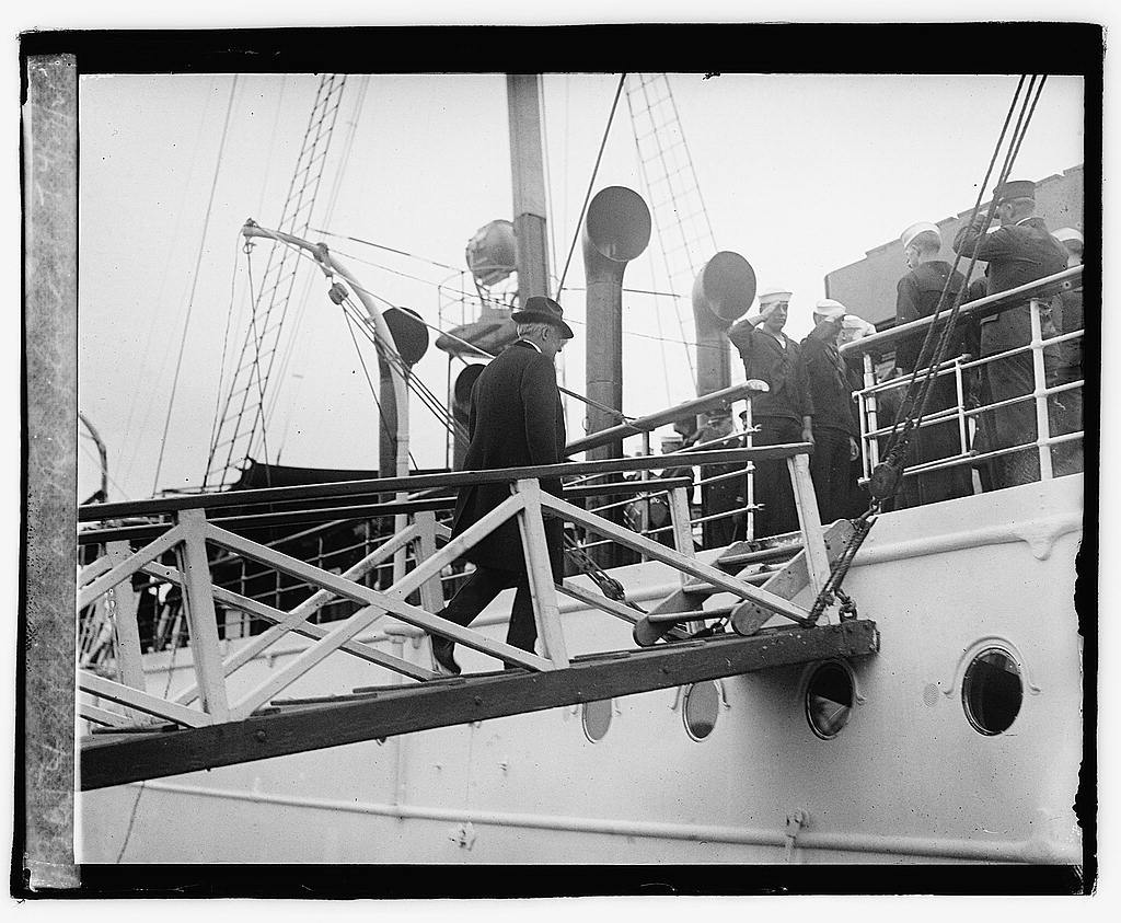 Harding on Mayflower, 4/27/21