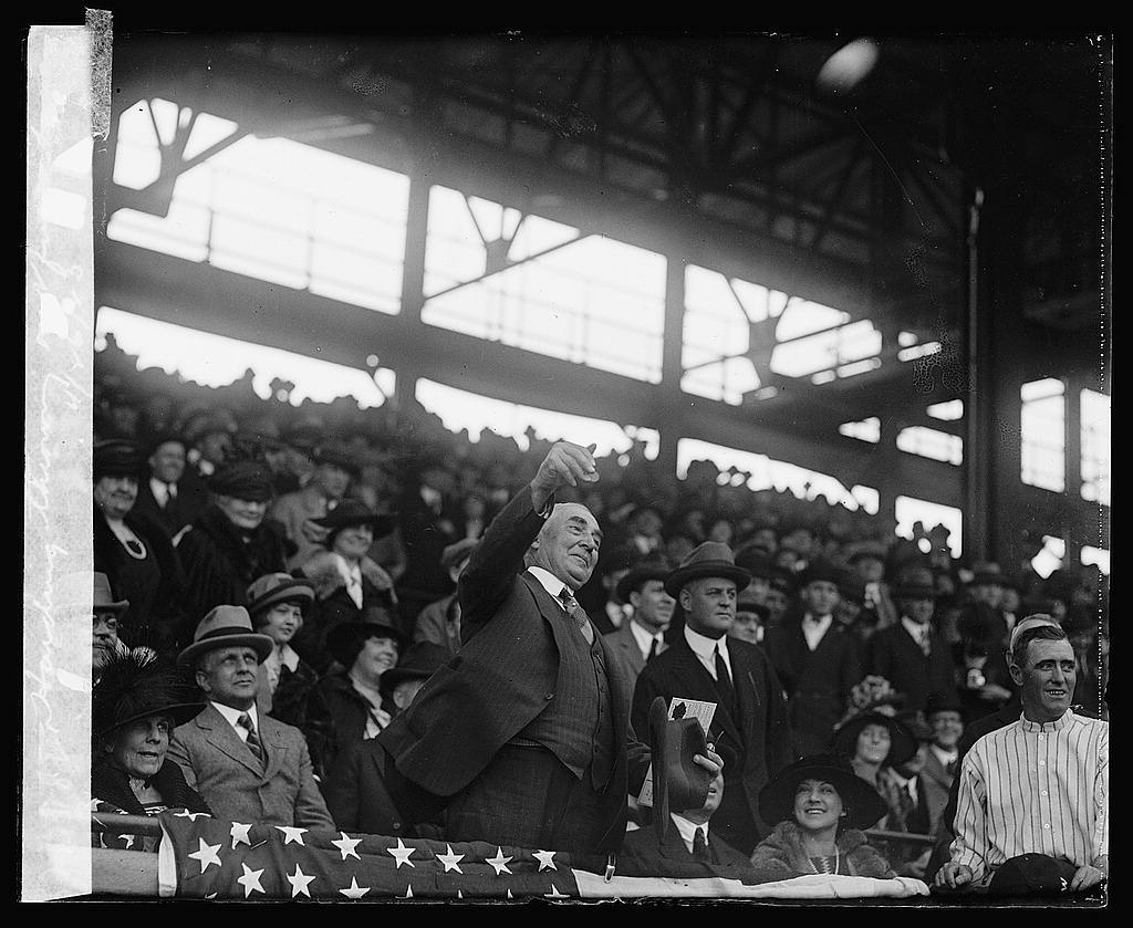 Harding throwing out first ball, 4/26/23