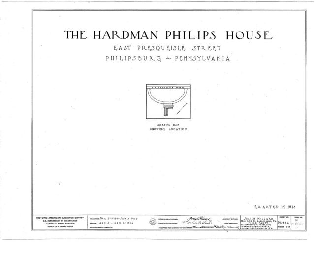 Hardman Philips House, East Presqueisle Street, Philipsburg, Centre County, PA