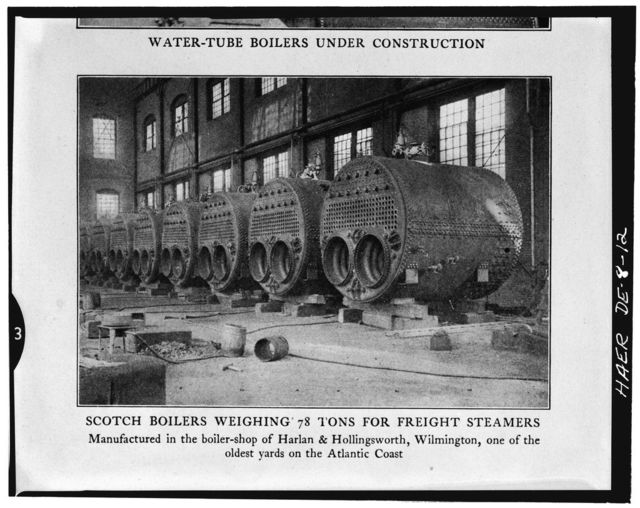 Harlan & Hollingsworth Company Factory, 100 South West Street, Wilmington, New Castle County, DE