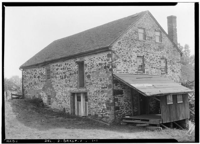 Harlan Grist Mill, Mermaid-Stoney Batter Road, Marshallton, New Castle County, DE