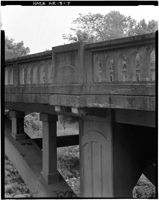 Harp Creek Bridge, Spans Harp Creek at State Highway 7, Harrison, Boone County, AR