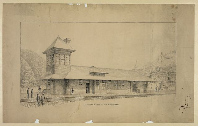 Harpers Ferry station B. & O. R.R.