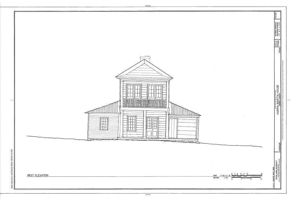 Harris-Martin House, Anderson, Grimes County, TX