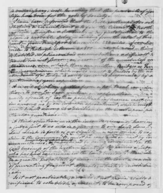 Harry Innes to Thomas Jefferson,