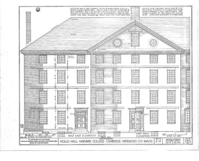 Harvard College, Hollis Hall, Harvard Yard, Cambridge, Middlesex County, MA