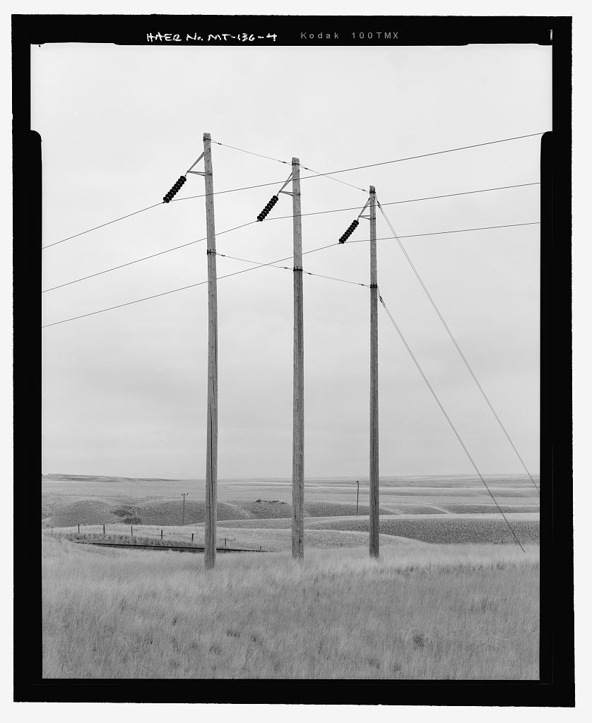 Havre Rainbow Transmission Line, Havre City to Great Falls vicinity, Montana, Great Falls, Cascade County, MT