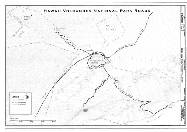 Hawaii Volcanoes National Park Roads, Volcano, Hawaii County, HI