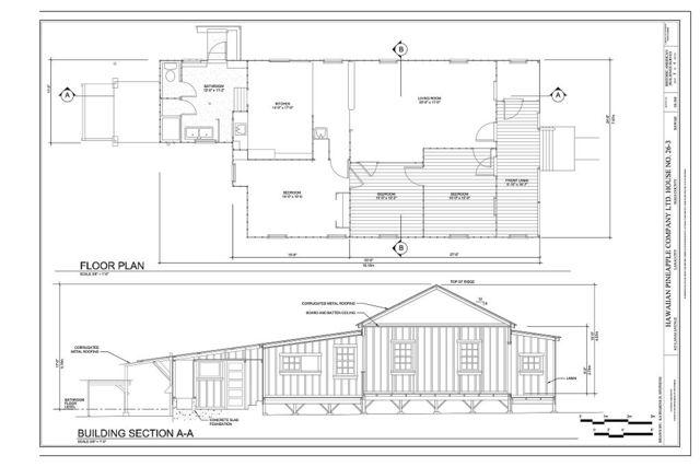 Hawaiian Pineapple Company (HAPCO) Ltd. House No. 26-3, 615 Lanai Avenue, Lanai City, Maui County, HI