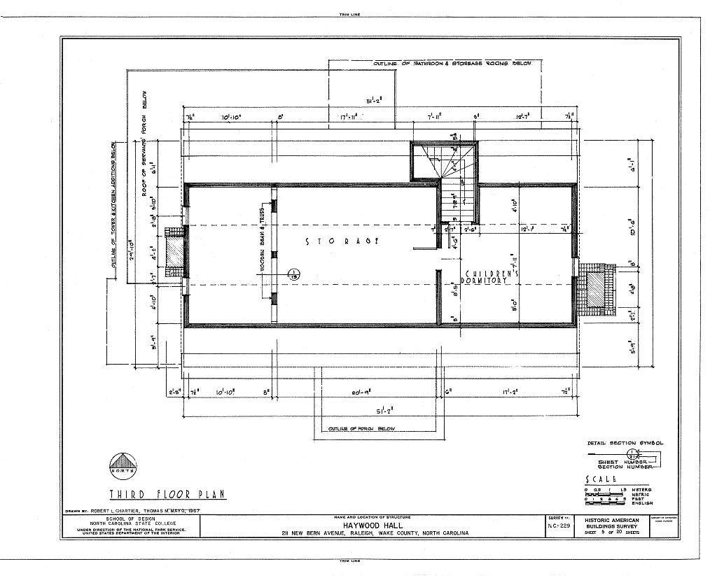 Haywood Hall, 211 New Bern Avenue, Raleigh, Wake County, NC