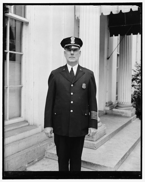 Heads White House police. Washington, D.C., June 25. Lieut. John M.D. McCubbin was today promoted to Captain of the White House police force. A Member of the force since 1922 he succeeds Capt. A.A. Walters, retired