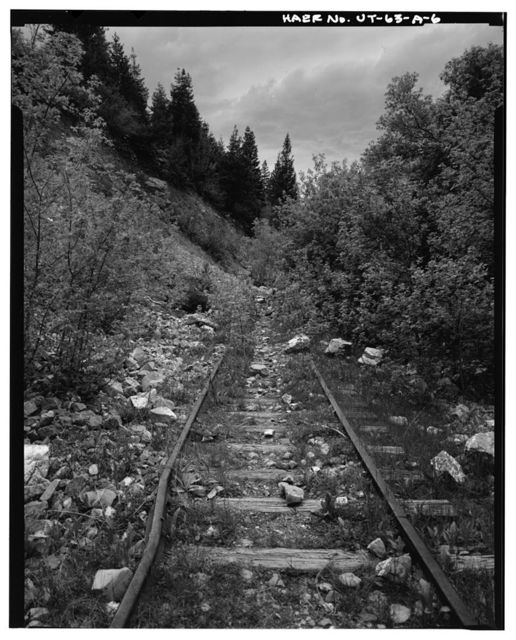 Heber Creeper Railroad Line, Section from Bridal Veil Falls to Vivian Park, Between Provo & Heber City, Provo, Utah County, UT
