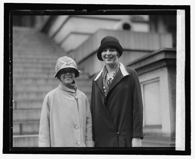 Helen & Louise Davis, daughters of Dwight Davis, 10/14/25