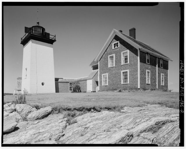 Hendricks Head Light Station, End of Beach Road, West Southport vicinity, Southport, Lincoln County, ME