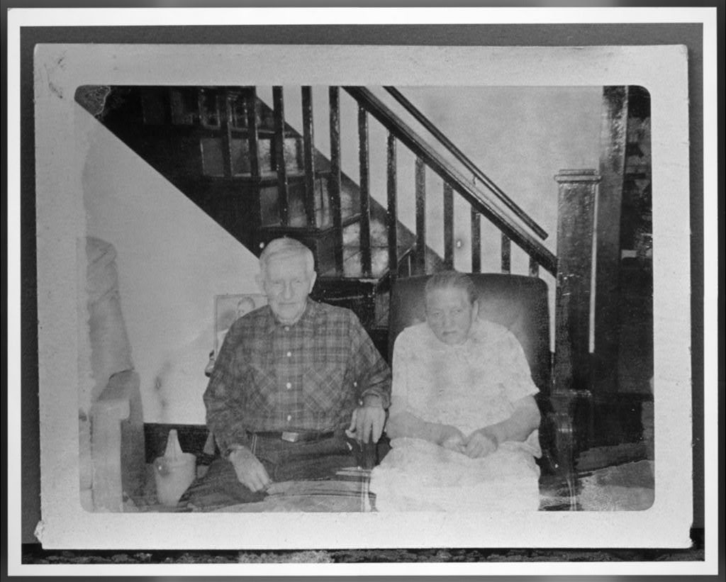 Henry and Nettie Mullins Reed, in the living room of their home in Glen Lyn, Virginia, date unknown.