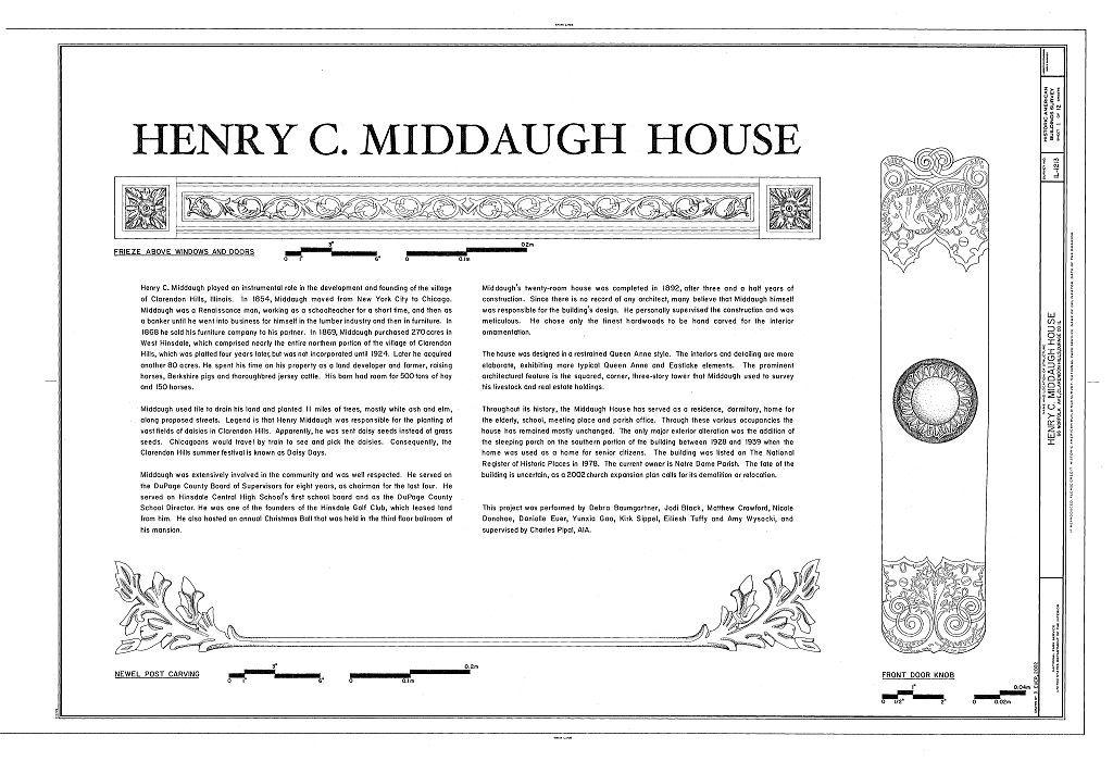 Henry C. Middaugh House, 66 Norfolk Avenue, Clarendon Hills, Du Page County, IL