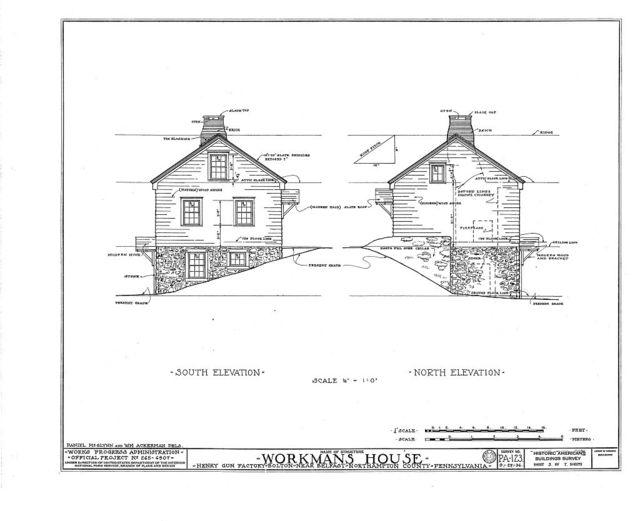 Henry Gun Factory, Workman's House, Belfast, Northampton County, PA