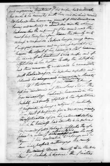 Henry Lee's manuscript on the life of Jackson