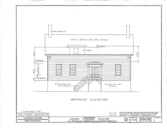 Henry Osborn House, 506 Stuyvesant Avenue, Irvington, Essex County, NJ