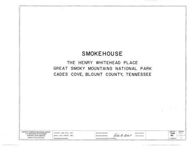 Henry Whitehead Place, Smokehouse, Townsend, Blount County, TN