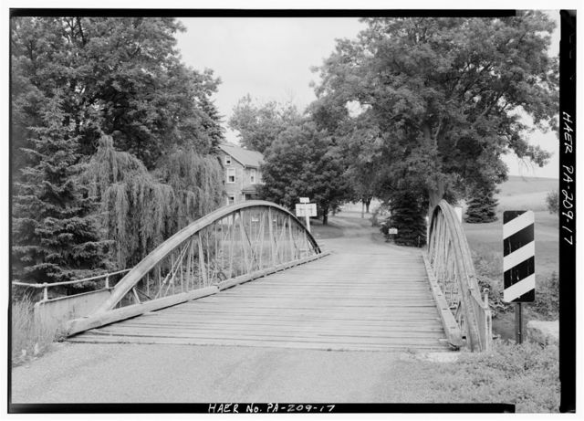 Henszey's Wrought-Iron Arch Bridge, Spanning Ontelaunee Creek at Kings Road, Wanamakers, Lehigh County, PA