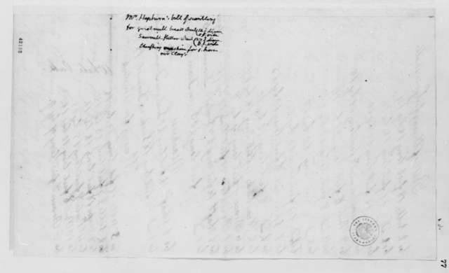 Hepburn, no date, Bill for Grist Mill Work