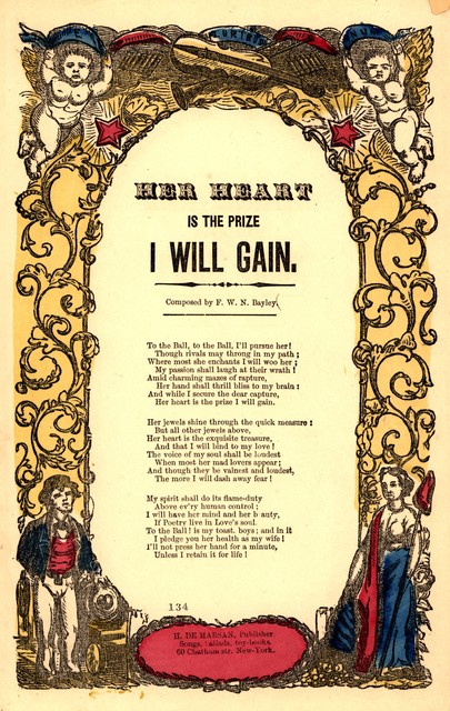 Her heart is the prize I will gain. Composed by F.W.N. Bayley. H. De Marsan, publisher, ... 60 Chatham St., N. Y