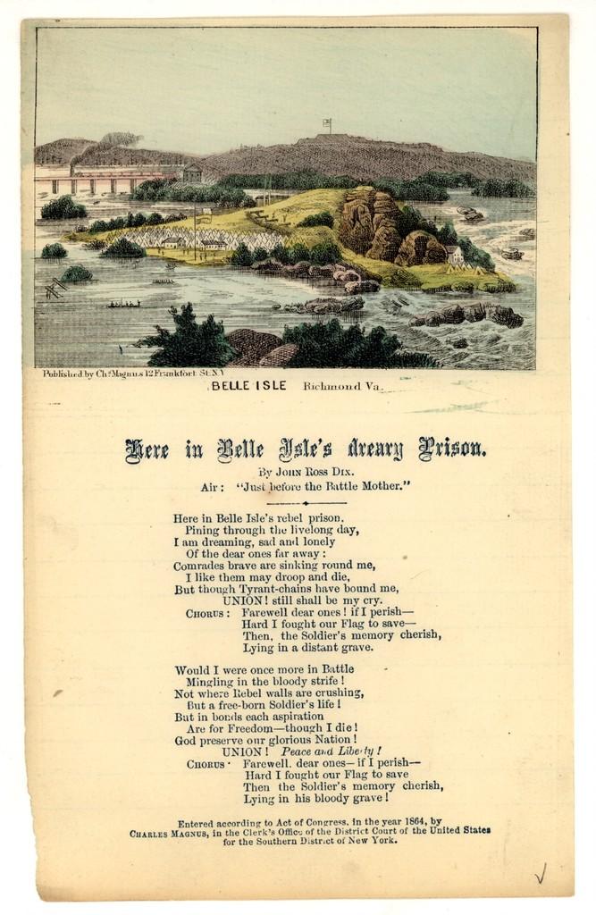 Here in Belle Isle's dreary prison, By John Ross Dix