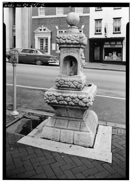 Hickman Fountain, 225 North Matlack Street (moved from Chester County Courthouse, High & Market Streets), West Chester, Chester County, PA