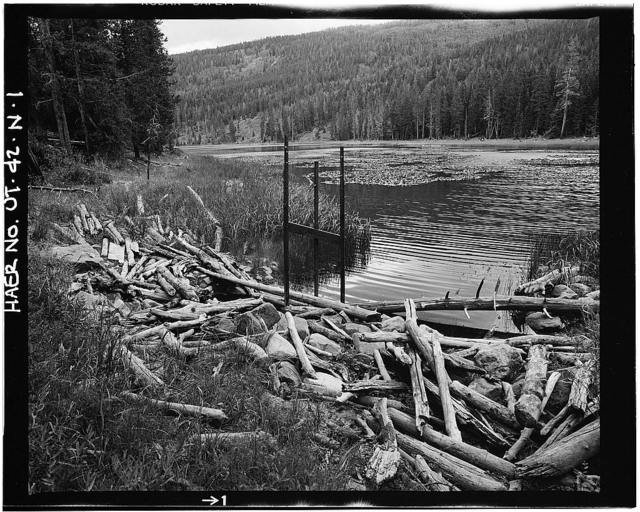 High Mountain Dams in Upalco Unit, Water Lily Lake Dam, Ashley National Forest, 1.1 miles Northeast of Swift Creek Campground, Mountain Home, Duchesne County, UT