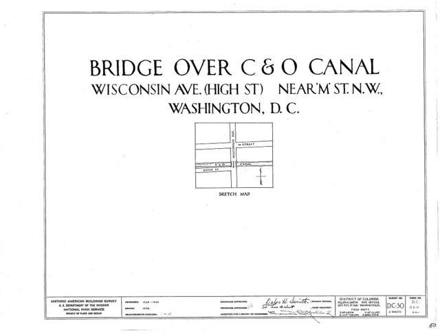 High Street Bridge, Wisconsin Avenue Northwest, Spanning C & O Canal, Washington, District of Columbia, DC