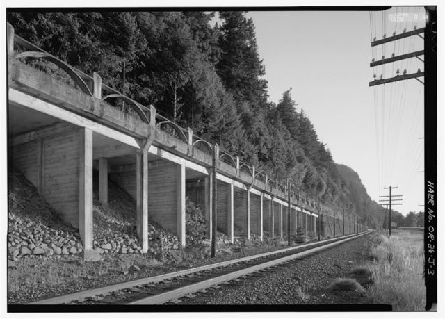 Historic Columbia River Highway, East Multnomah Falls Viaduct, East of Multnomah Falls, Troutdale, Multnomah County, OR