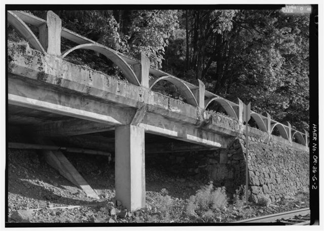 Historic Columbia River Highway, West Multnomah Falls Viaduct, West of Multnomah Falls on Historic Columbia River Highway, Troutdale, Multnomah County, OR