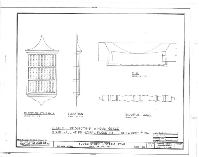 Historic Zone, Block Study, Calle de las Cruz,Sol,Luna & San Jose, San Juan, San Juan Municipio, PR