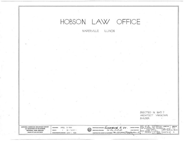 Hobson Law Office, 215 South Main Street, Naperville, Du Page County, IL